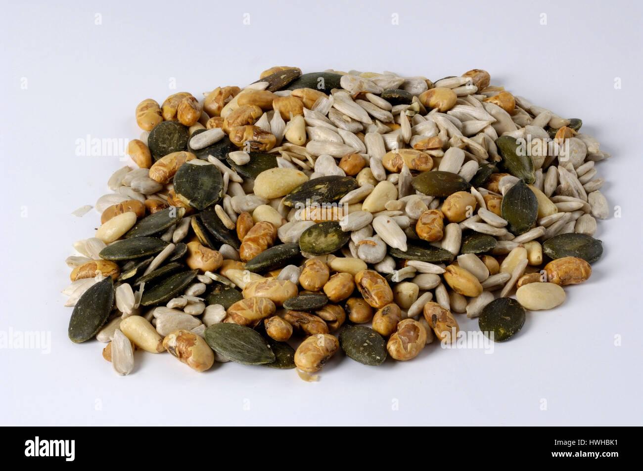 Salad seeds, parched, salad cores, roasted roasted, parched | Salatkerne, geroestet geröstet Stock Photo