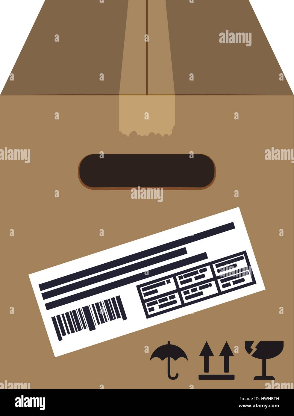 Box delivery package - Stock Vector
