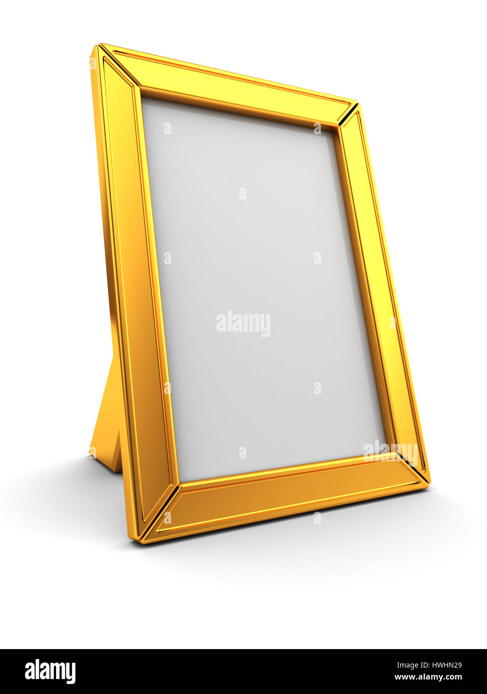 3d Golden Photo Frame Stock Photos & 3d Golden Photo Frame Stock ...