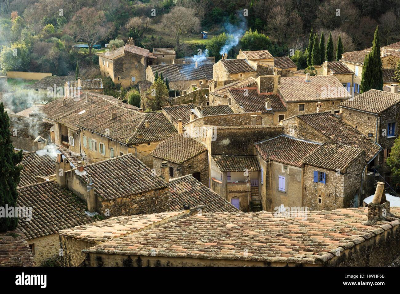 France, Ardeche, Saint Montan - Stock Image