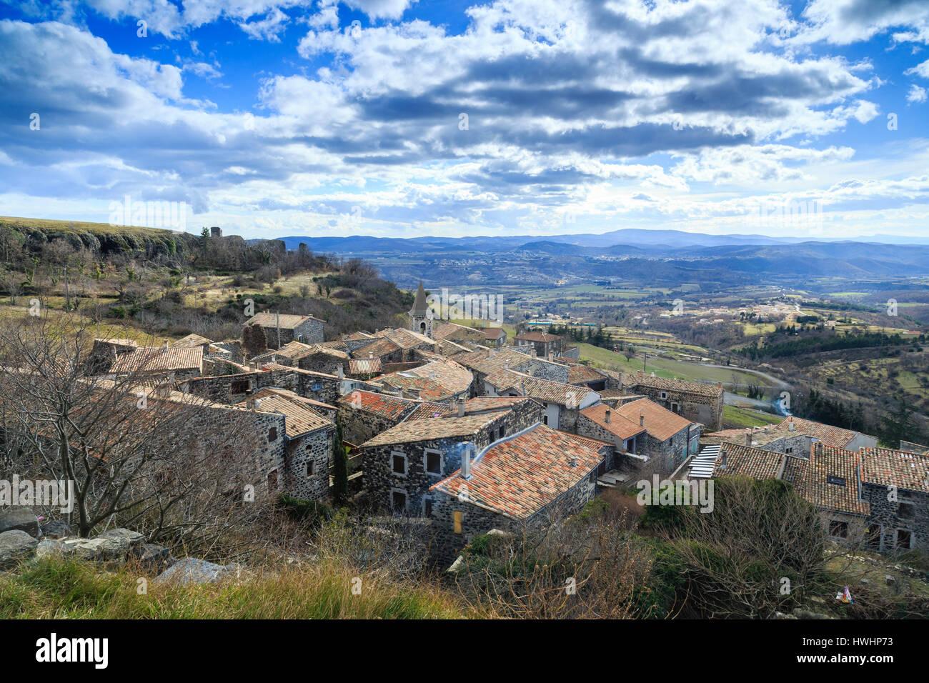France, Ardeche, Mirabel, the village - Stock Image