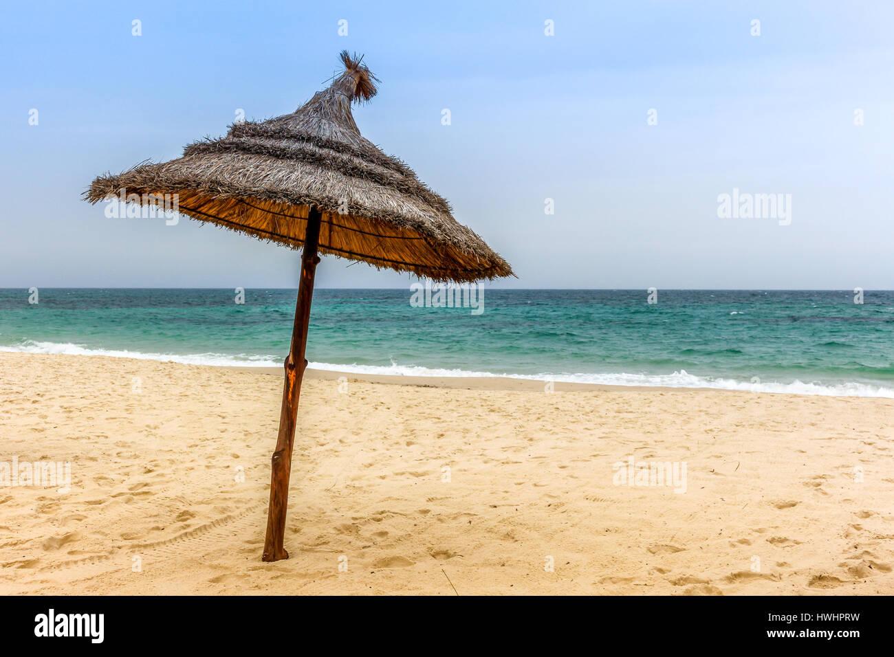 Sonnenschirm Tunesien - Stock Image