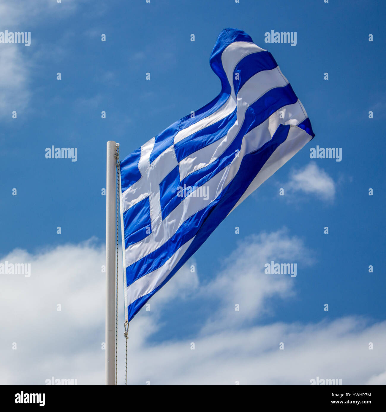 Griechische Flagge - Stock Image