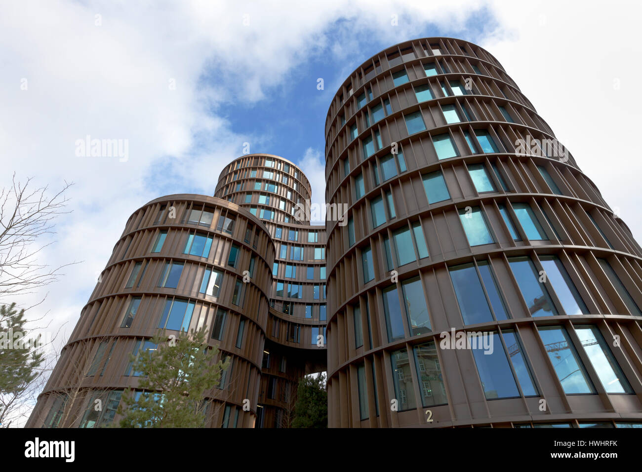 Axel Towers, five round towers on Axel Square, Axel Torv, Vesterbrogade, Copenhagen. - Stock Image