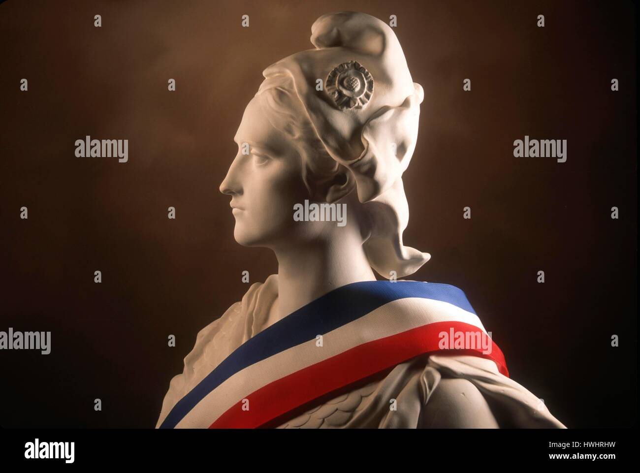 Statue Of Marianne National Symbol Of The French Republic Draped In