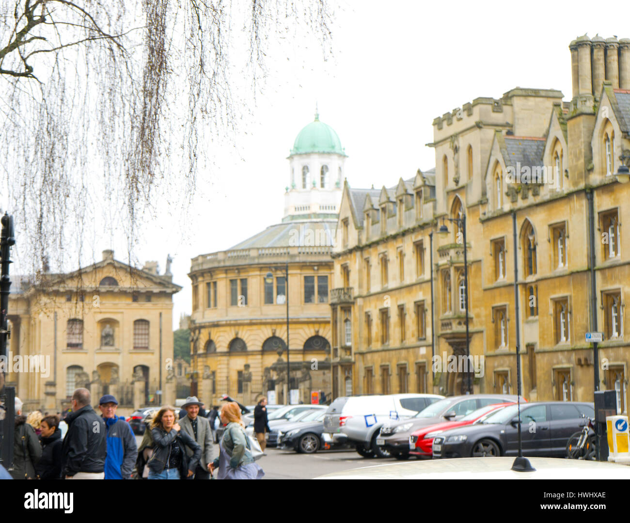 Square in the centre of the city of Oxford, Oxfordshire, UK - Stock Image