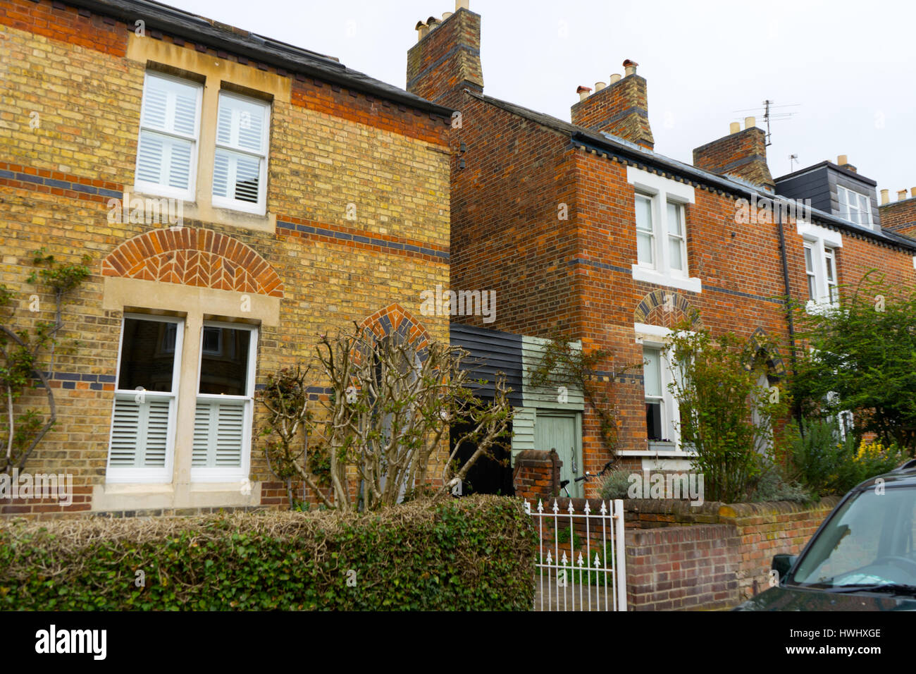 Houses and homes in the centre of Oxford, Oxfordshire, UK - Stock Image