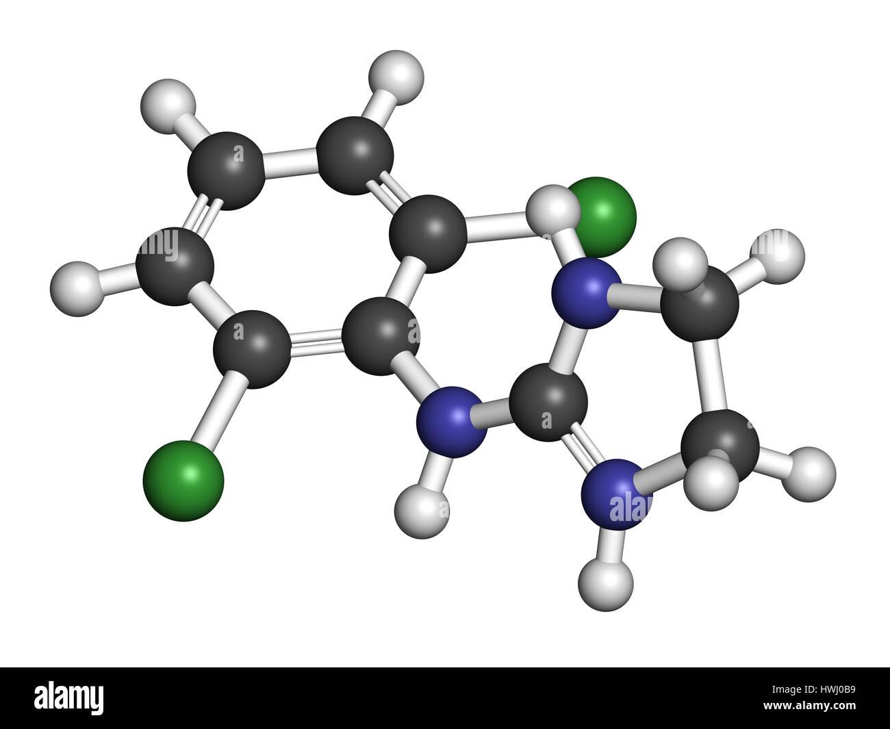 Clonidine drug molecule  Used in treatment of ADHD