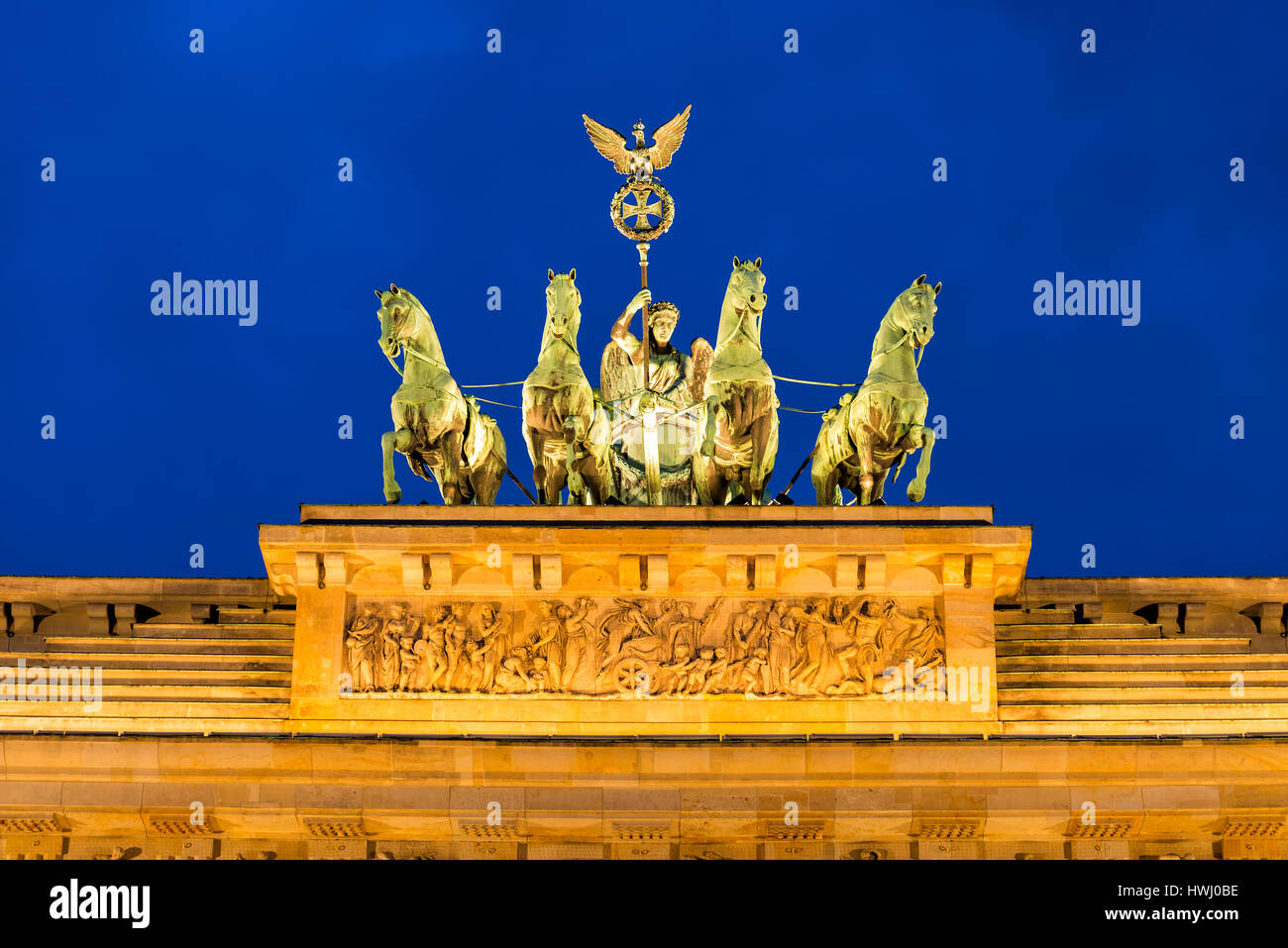 Brandenburg gate in Berlin - Stock Image