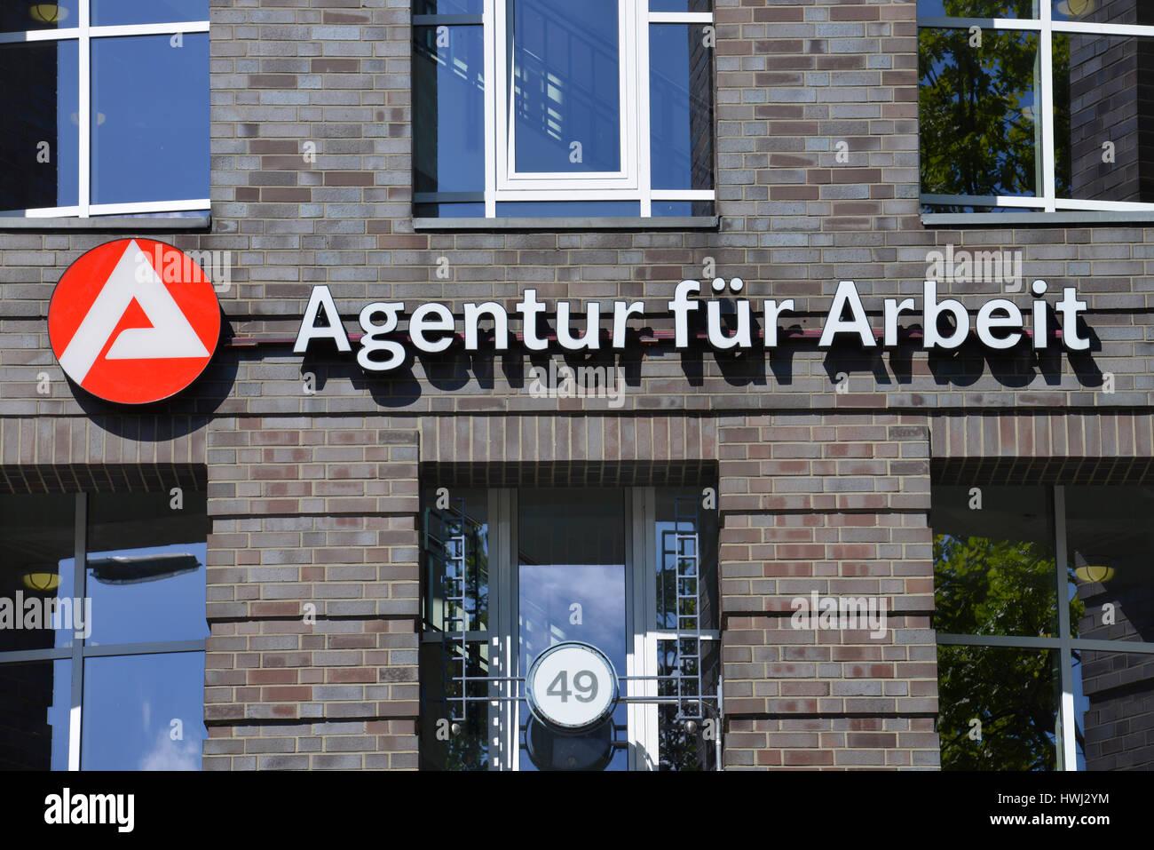 Agentur fuer Arbeit, Koenigin-Elisabeth-Strasse, Westend, Charlottenburg, Berlin, Deutschland Stock Photo