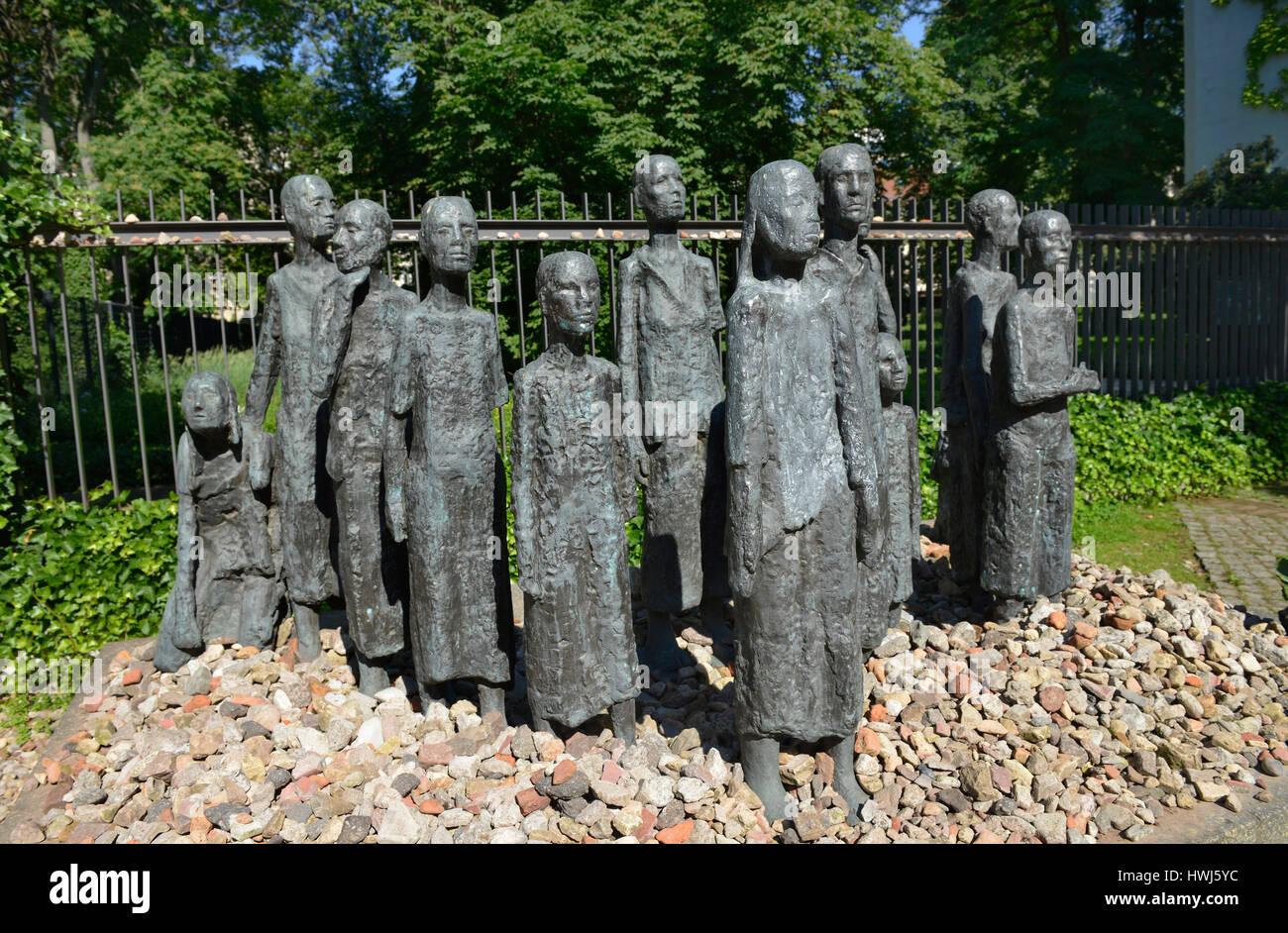Skulptur Juedische Opfer des Faschismus, Grosse Hamburger Strasse, Mitte, Berlin, Deutschland Stock Photo