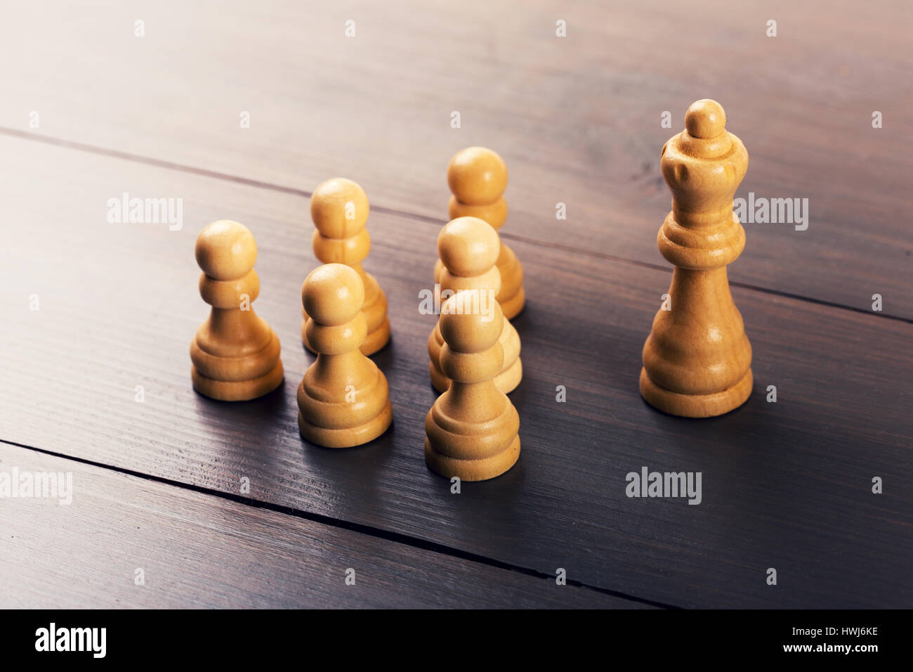 leadership concept - leader in front of the team - Stock Image