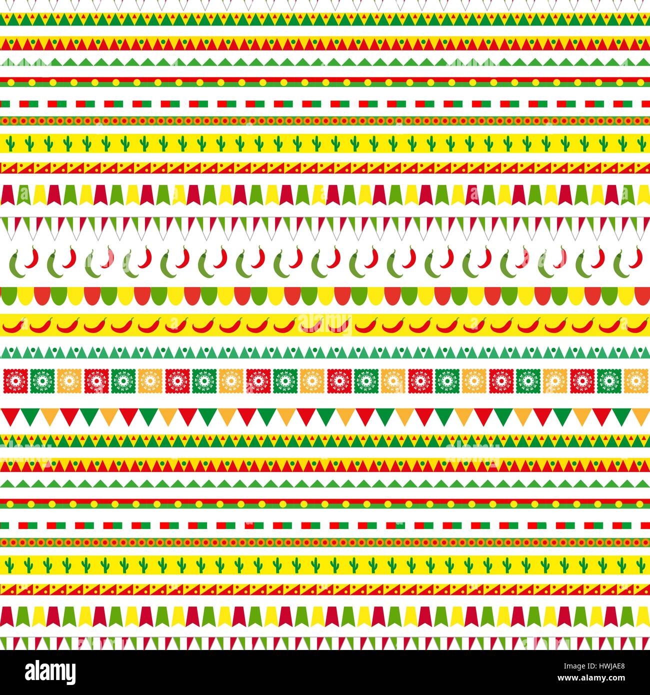 Cinco De Mayo Seamless Pattern With A Traditional Ornament Mexican Ethnic Tribal Endless Background Texture Vector Illustration