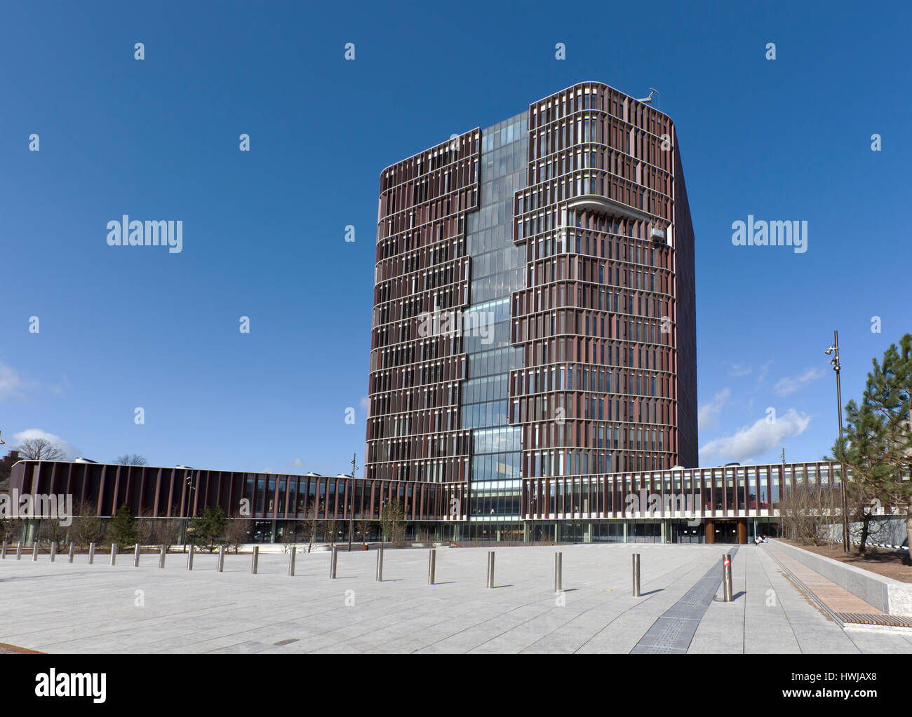The Maersk Tower. Faculty of Health and Medical Sciences, University of Copenhagen, Denmark. Part of the Panum complex. - Stock Image