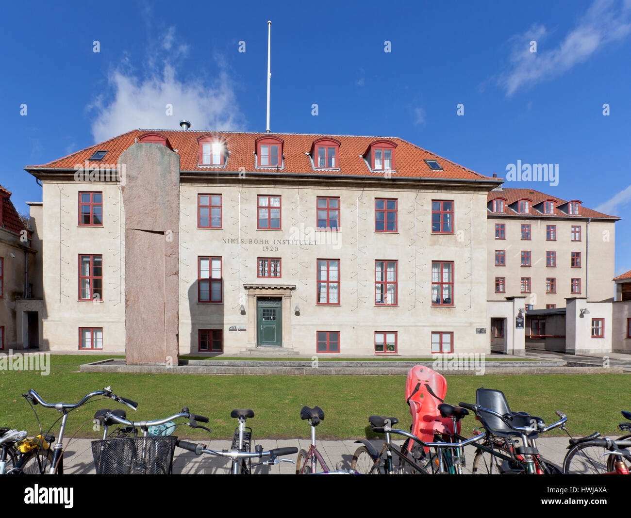 The Niels Bohr Institute from 1920, University of Copenhagen, Denmark. - Stock Image