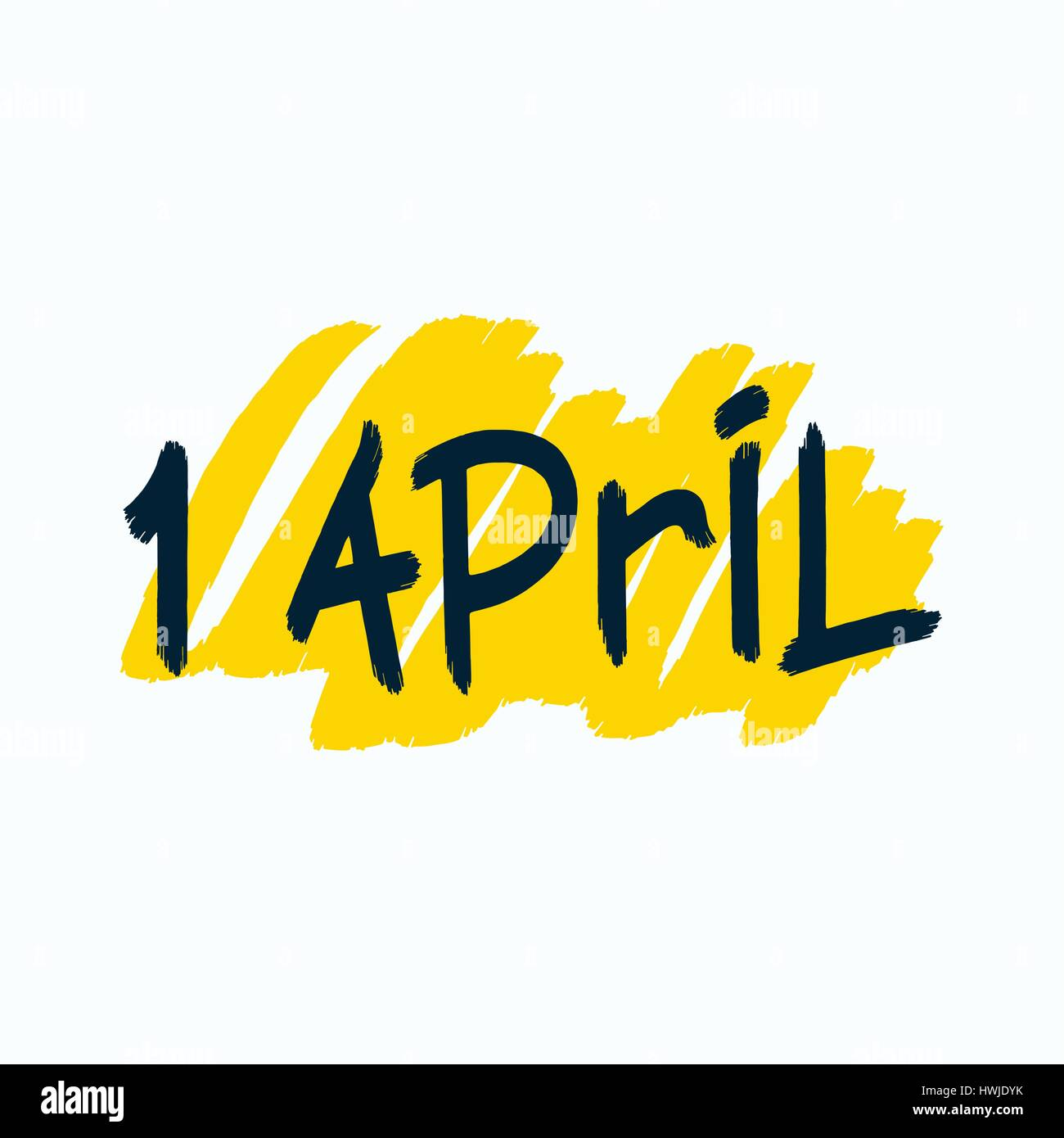 1 april simple and quality brush lettering design vector eps 8