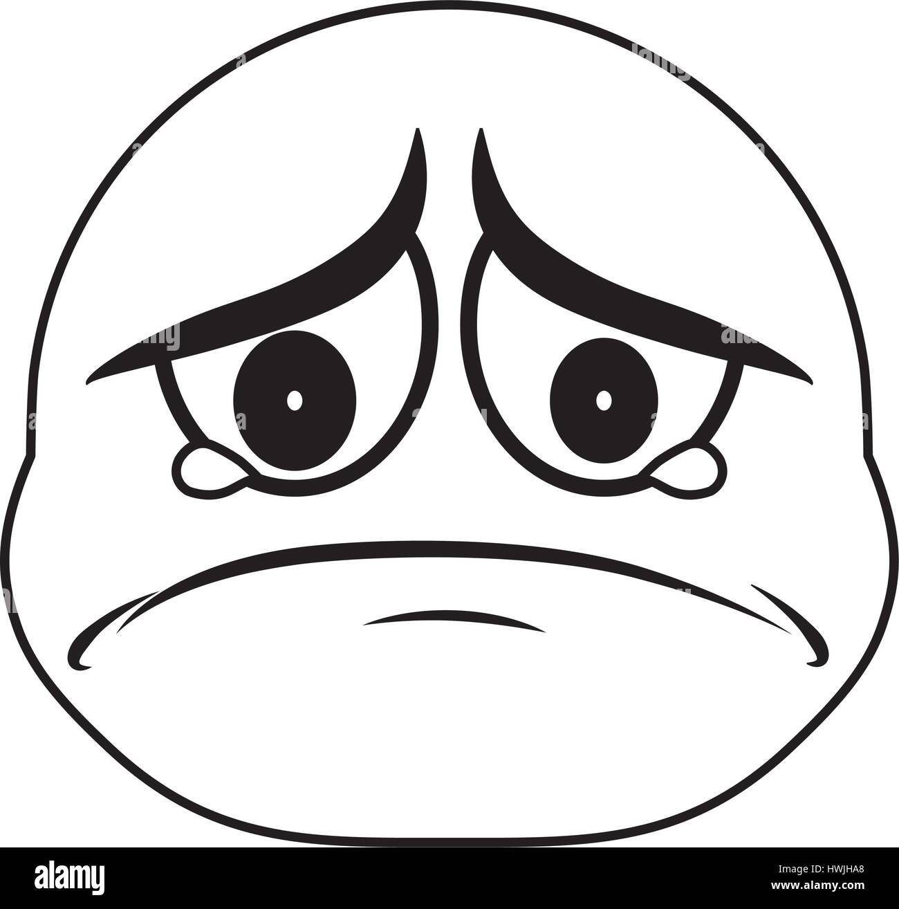Sad Cartoon Face High Resolution Stock Photography And Images Alamy