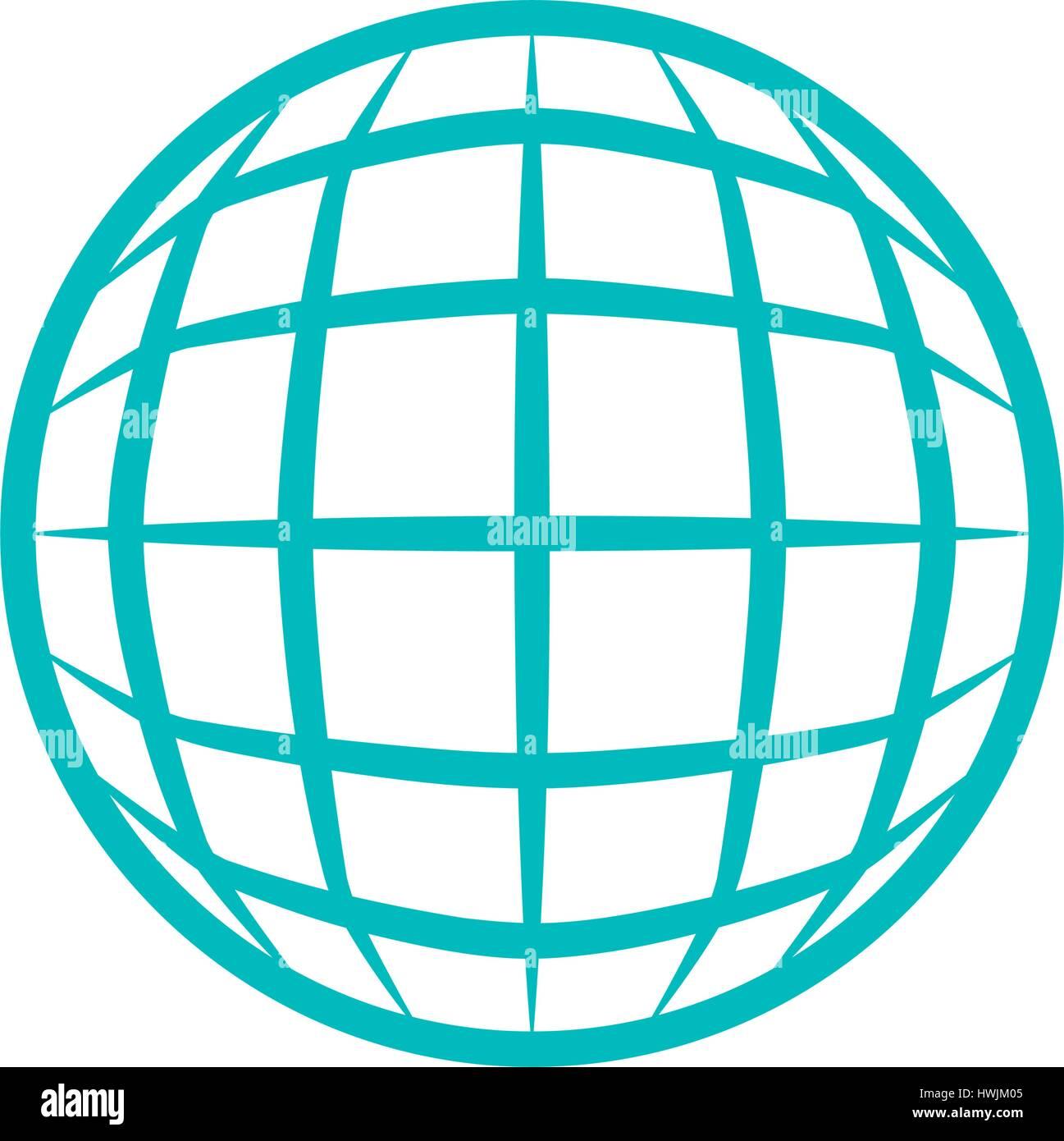 Global sphere symbol - Stock Vector