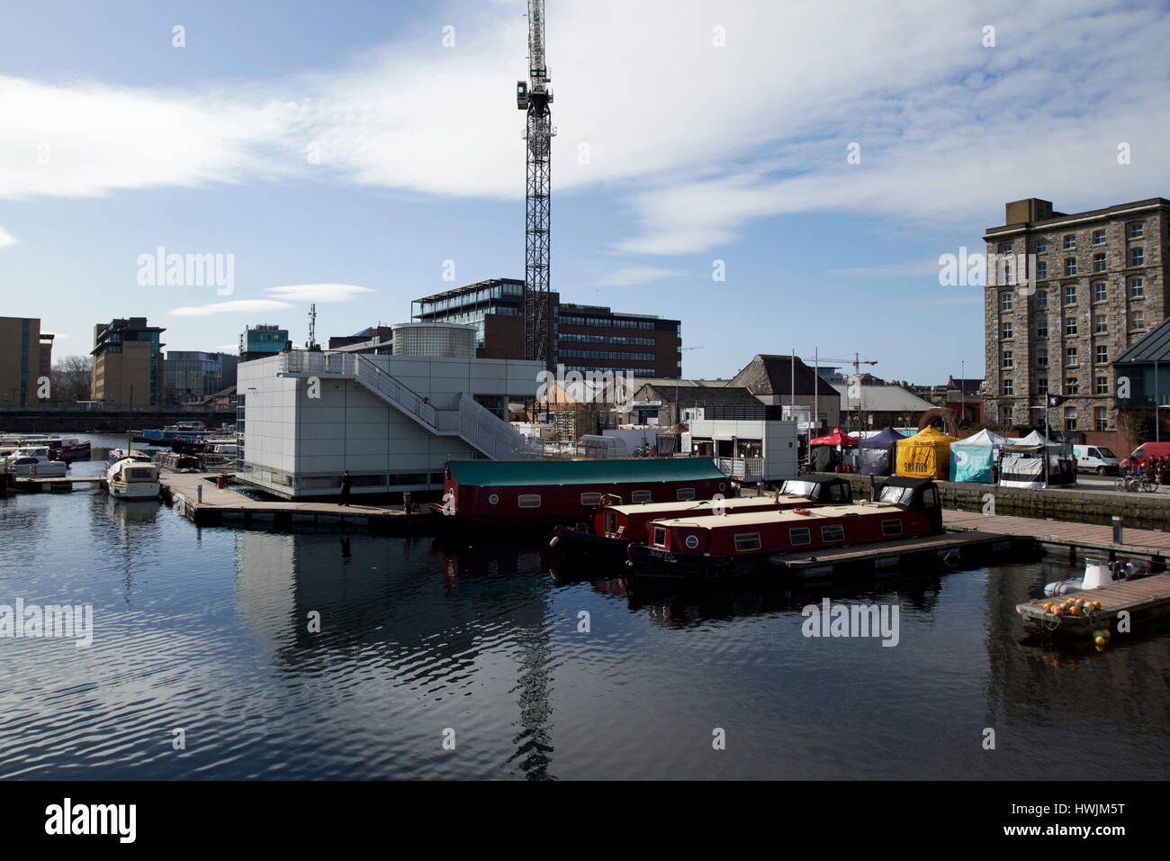 grand canal dock marina and waterways ireland visitors centre Dublin Republic of Ireland - Stock Image