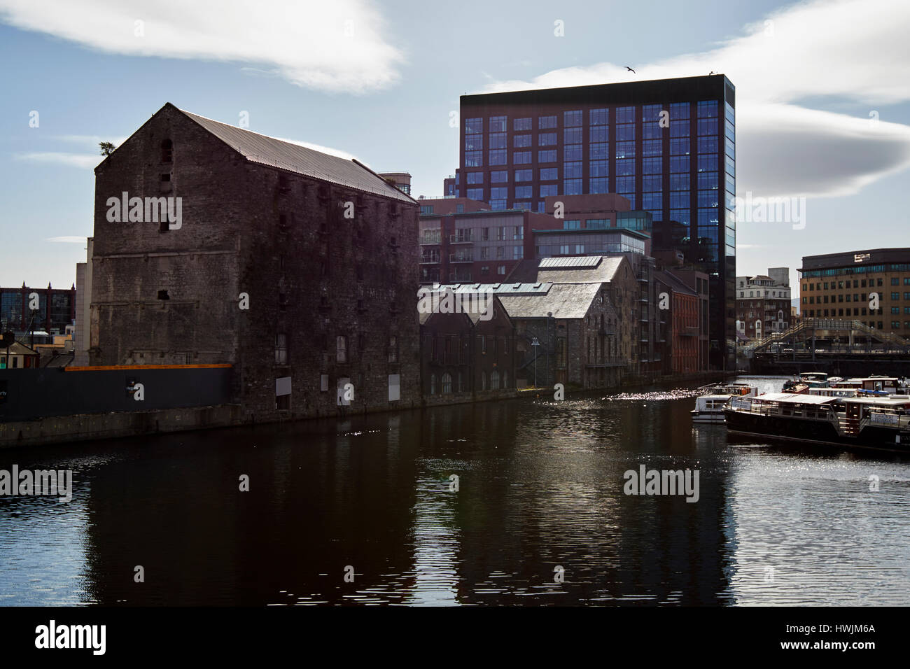 bolands mills and silicon docks grand canal dock Dublin Republic of Ireland - Stock Image