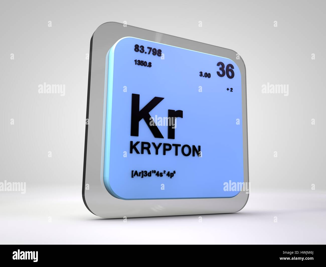 Krypton kr chemical element periodic table 3d render stock photo krypton kr chemical element periodic table 3d render urtaz Choice Image