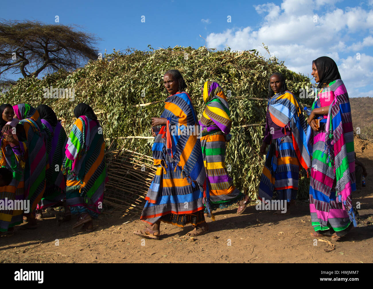 Borana women in traditional clothing during the Gada system
