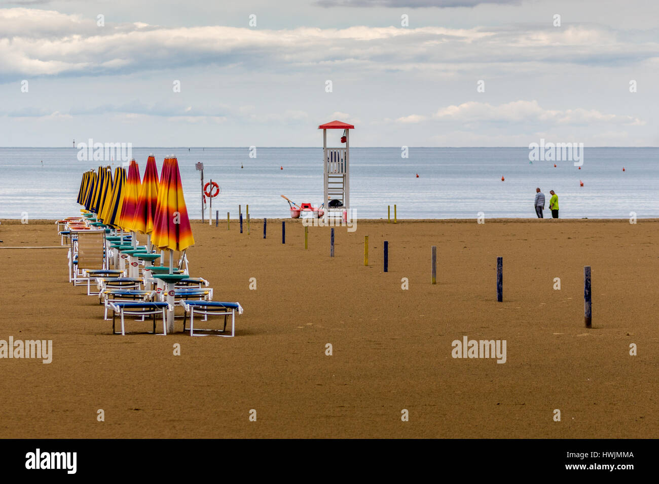 Lignano Strand Stock Photo 136250362 Alamy