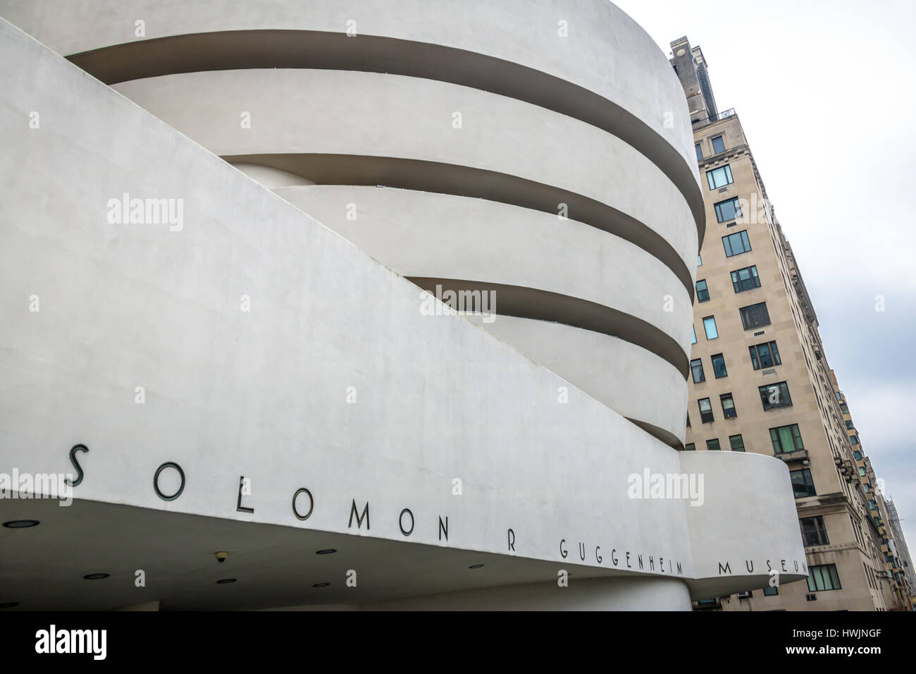 The Solomon R. Guggenheim Museum of modern and contemporary art - New York, USA Stock Photo