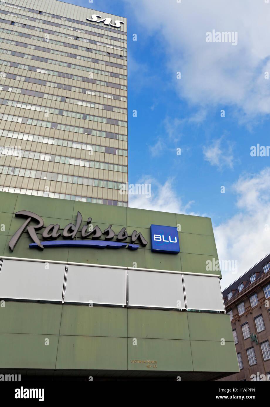The Radisson Blu Royal Hotel, the SAS Hotel, Vesterbrogade, central Copenhagen, Denmark. - Stock Image