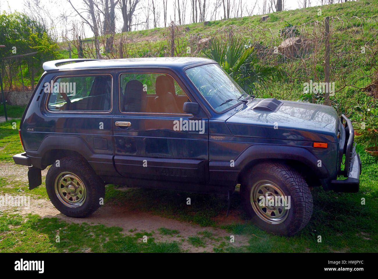 The Lada 4x4 Formerly Called The Lada Niva Is An Off Road Vehicle Stock Photo Alamy