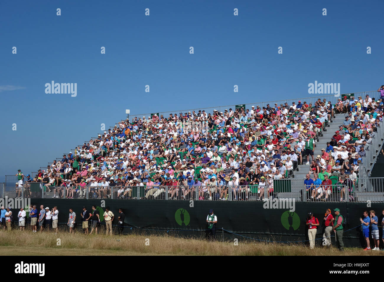 SPECTATOR GANTRY THE OPEN CHAMPIONSHIP THE OPEN CHAMPIONSHIP MUIRFIELD EAST LOTHIAN SCOTLAND 19 July 2013 - Stock Image