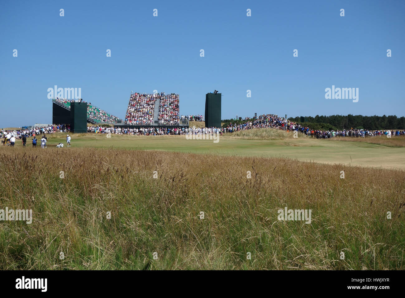 10TH HOLE GANTRY THE OPEN CHAMPIONSHIP THE OPEN CHAMPIONSHIP MUIRFIELD EAST LOTHIAN SCOTLAND 19 July 2013 - Stock Image