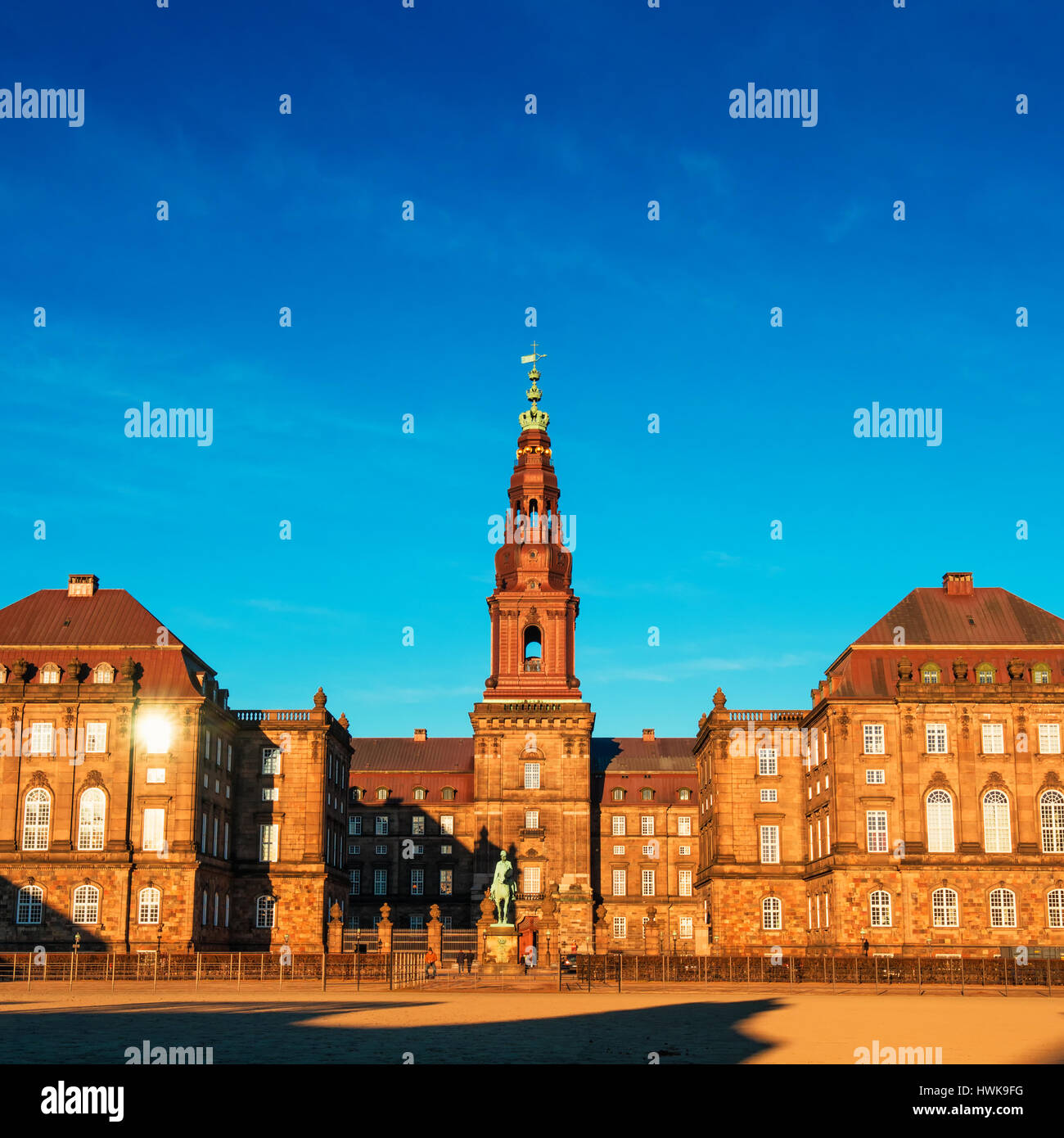 COPENHAGEN, DENMARK - MARCH 11, 2017: Christiansborg Palace in Copenhagen Denmark, Danish parliament building. - Stock Image