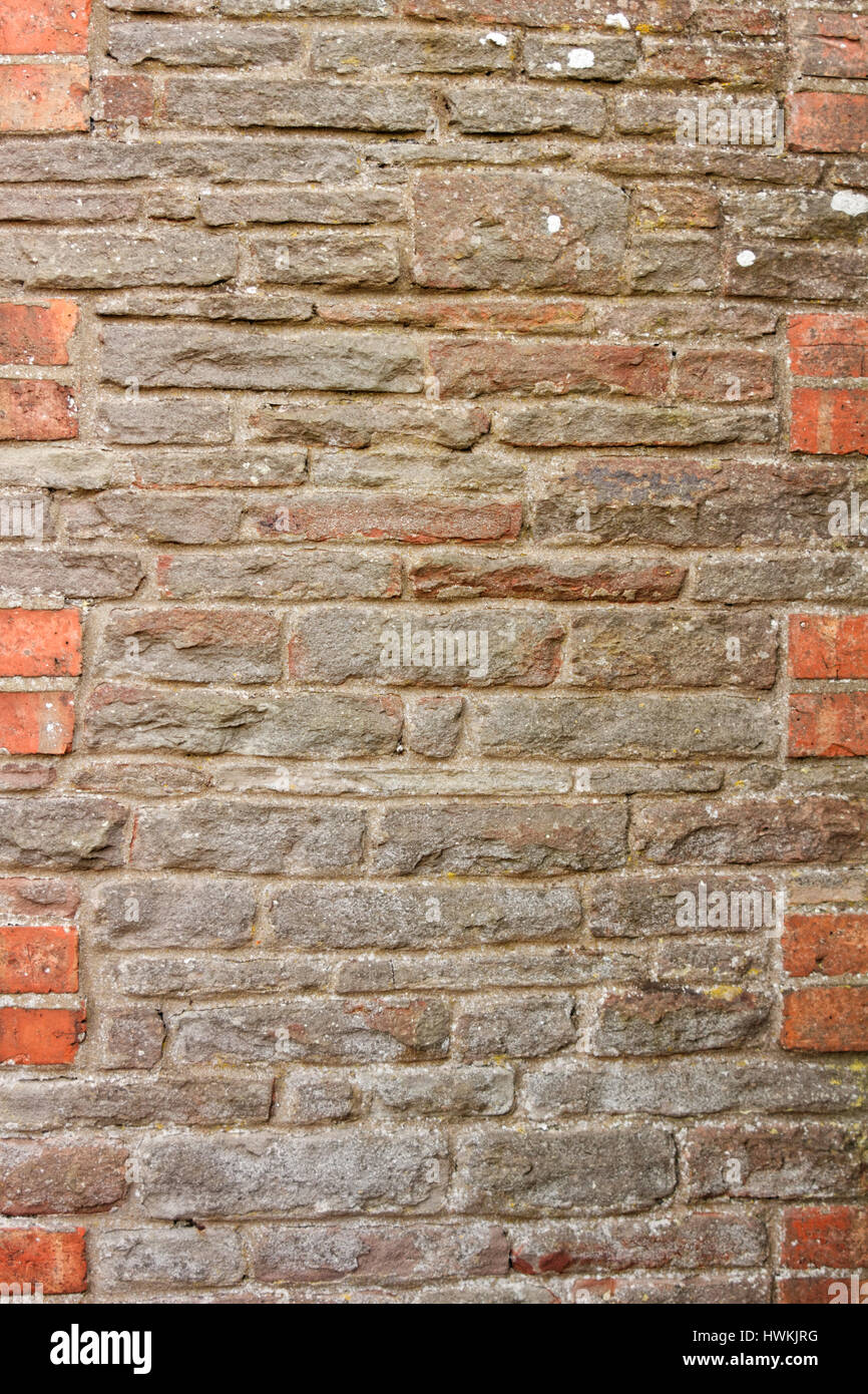 Old stone wall - Stock Image