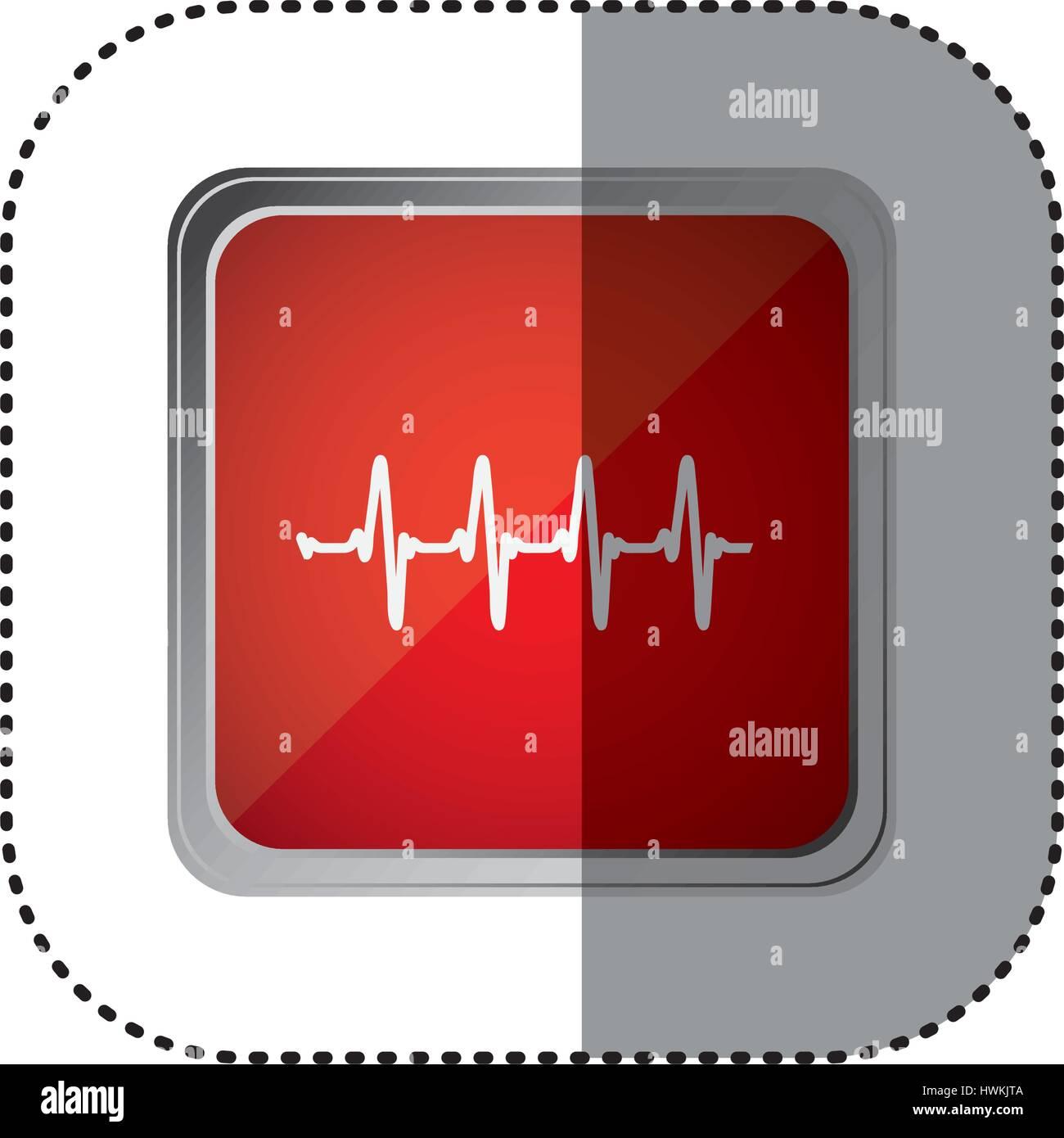 red emblem vital sign - Stock Image