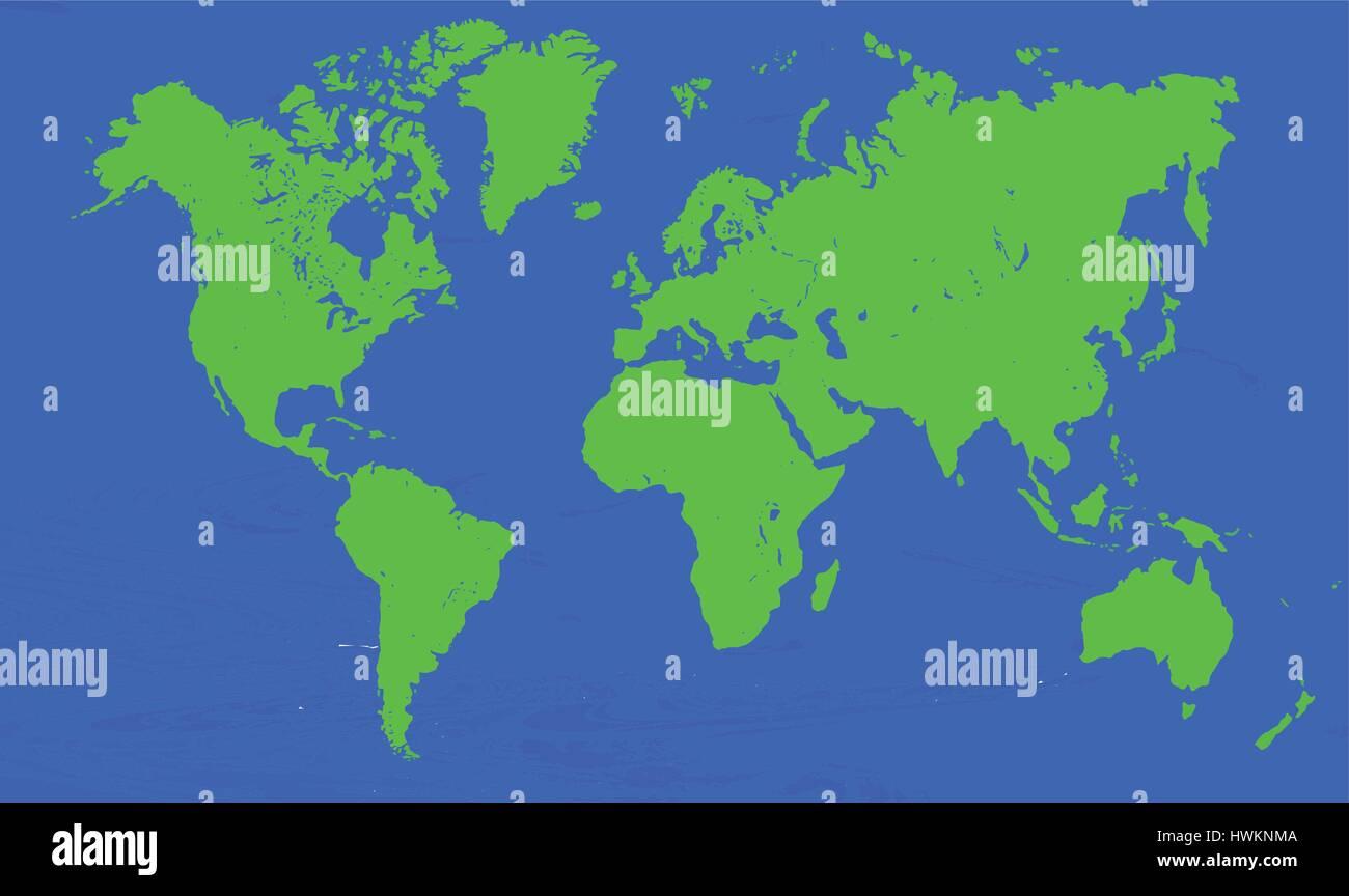 2d world map vector Stock Vector Art & Illustration, Vector Image