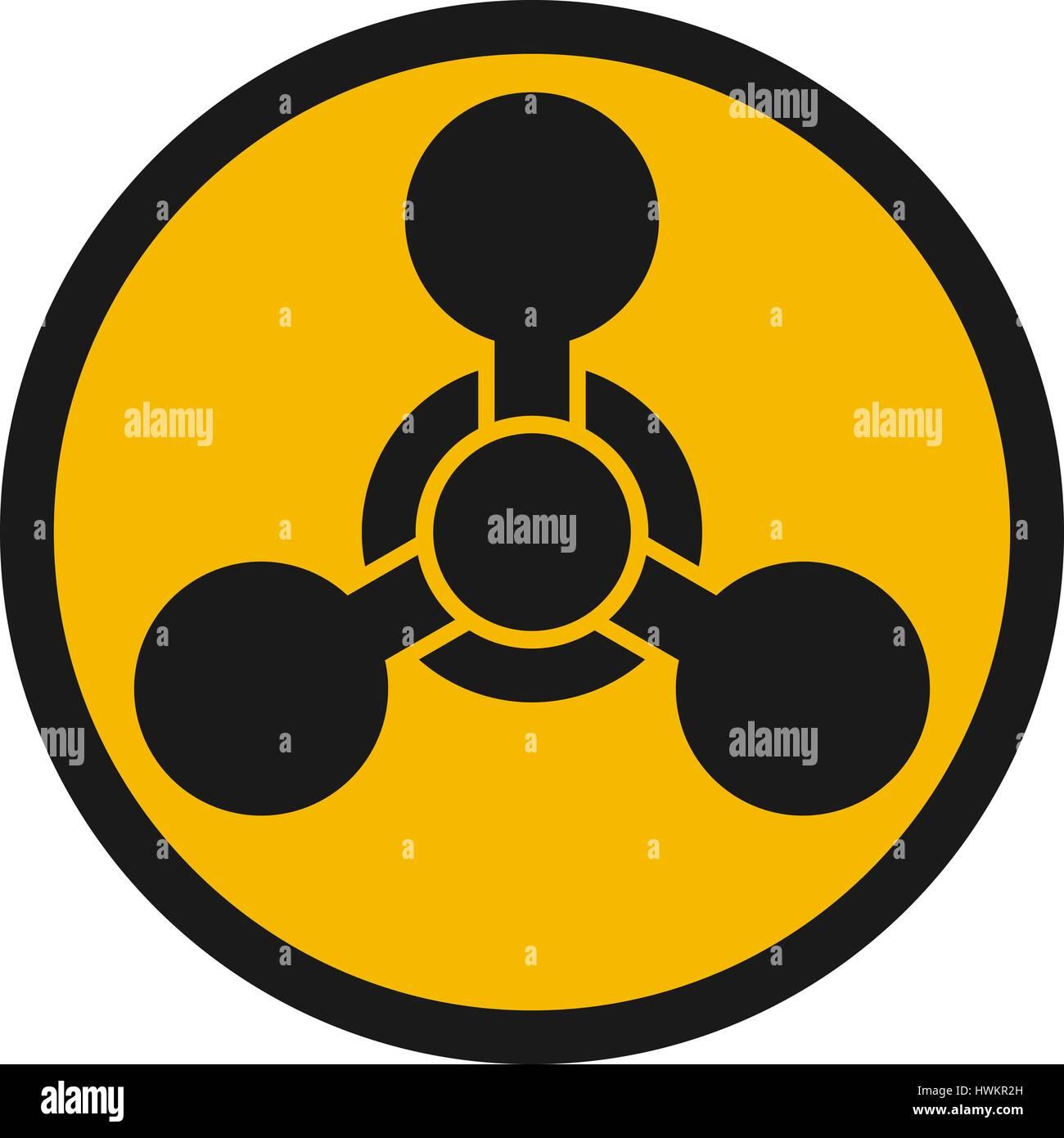 chemical weapon warning hazard sign stock vector art illustration