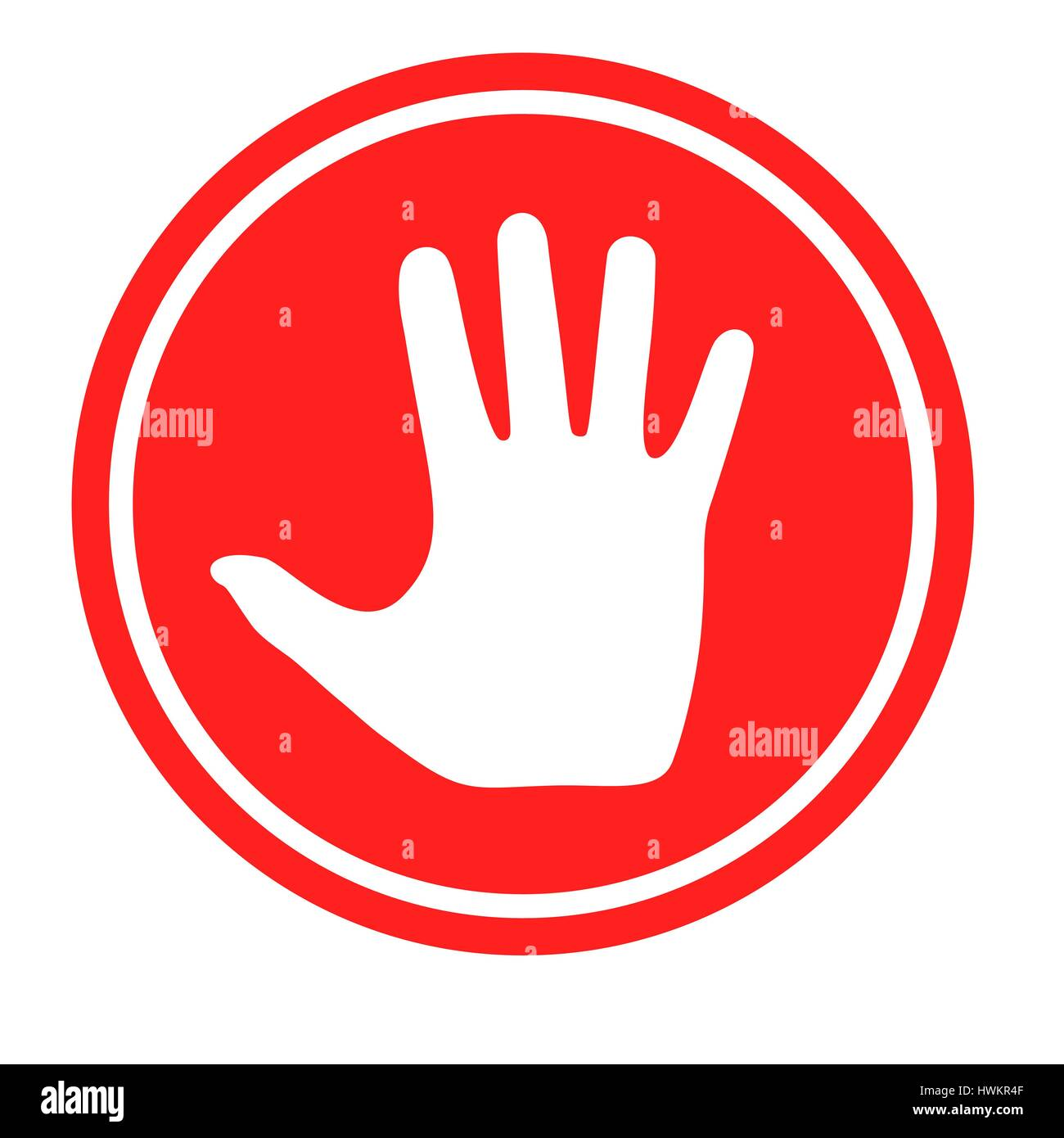 Prohibition Stop Sign Hand Symbol Stock Photos Prohibition Stop