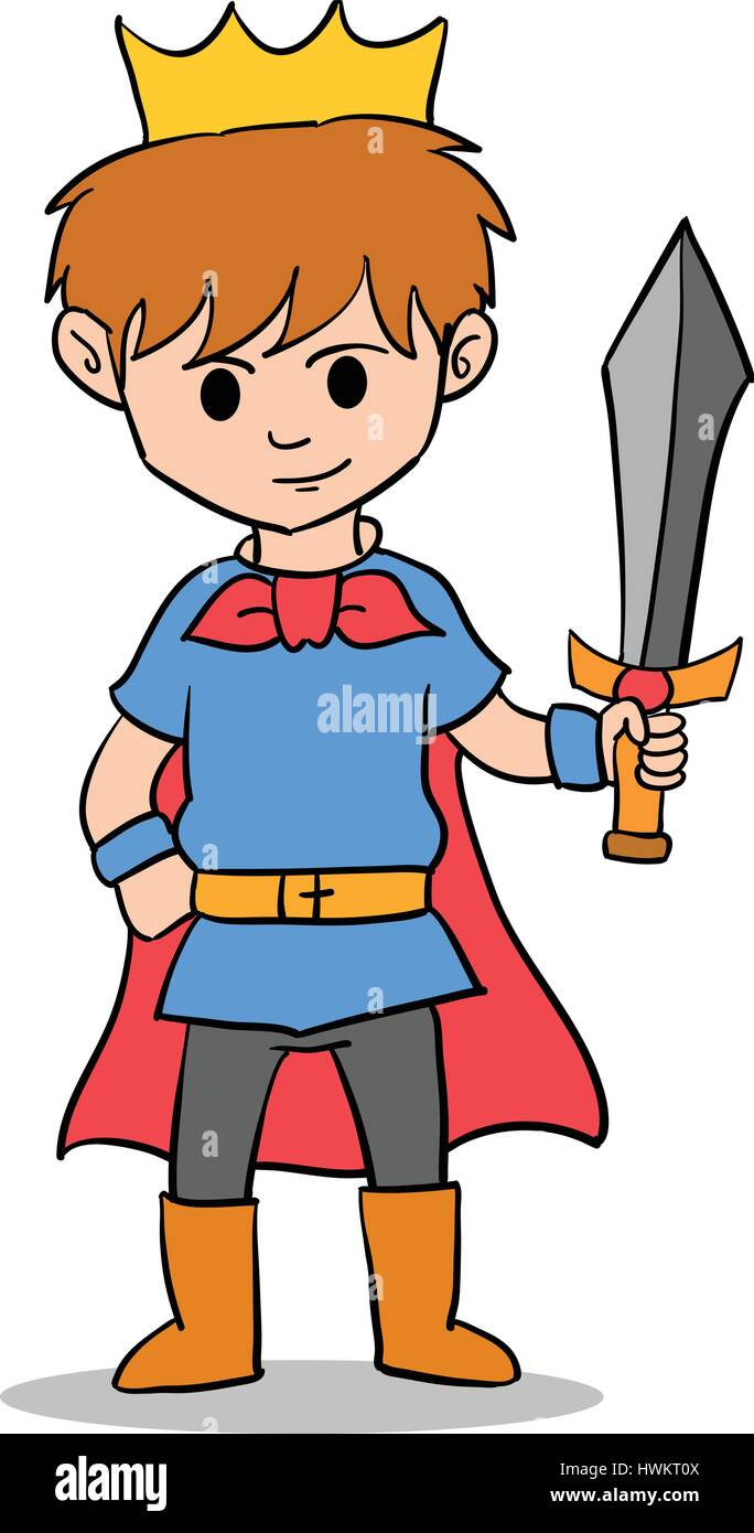 The king boy character style Stock Vector