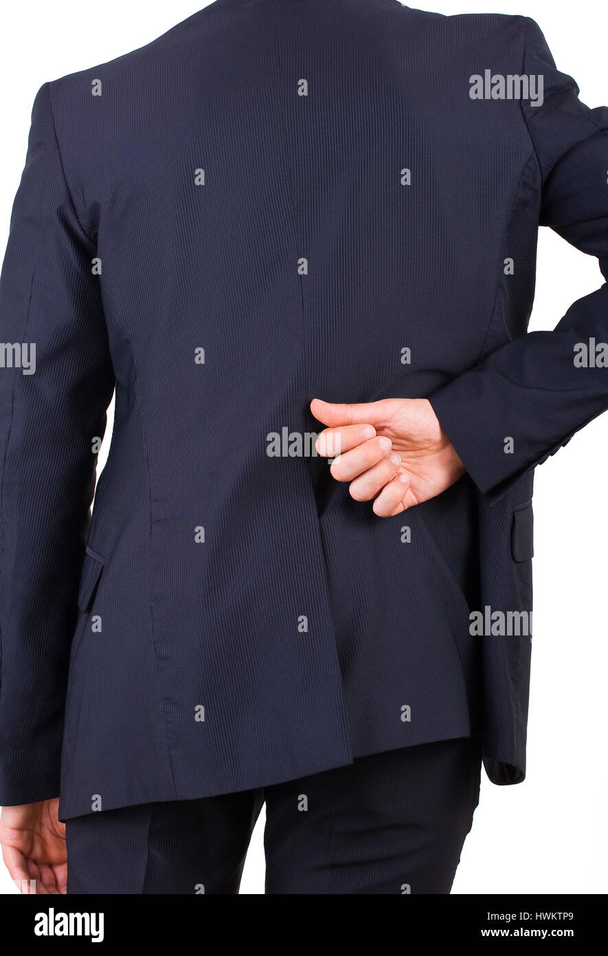 Businessman with aching back. Stock Photo