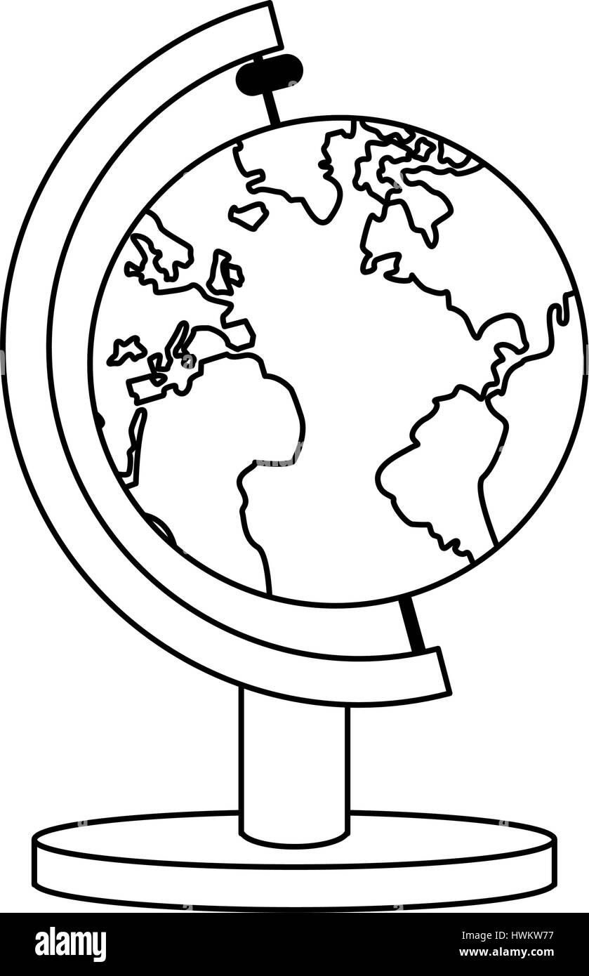 earth planet icon - Stock Image