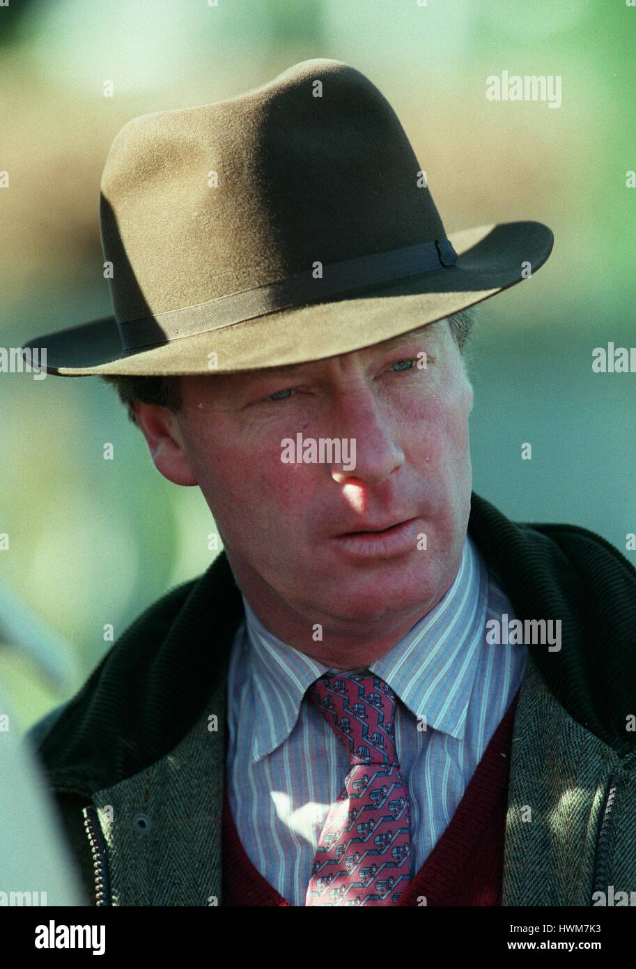 R.H.BUCKLER RACE HORSE TRAINER 27 March 1997 Stock Photo