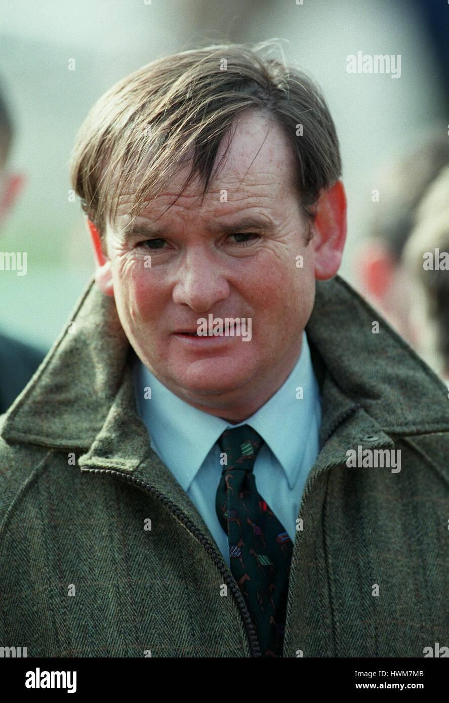 JOHN WHITE RACE HORSE TRAINER 18 March 1997 - Stock Image