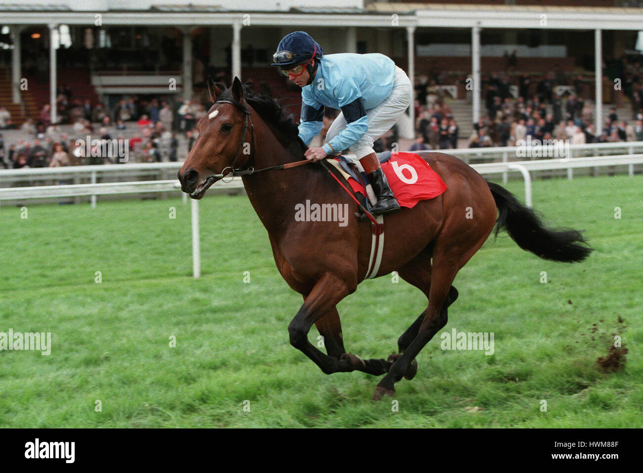 TRIDENT RIDDEN BY J.REID 17 April 1998 - Stock Image