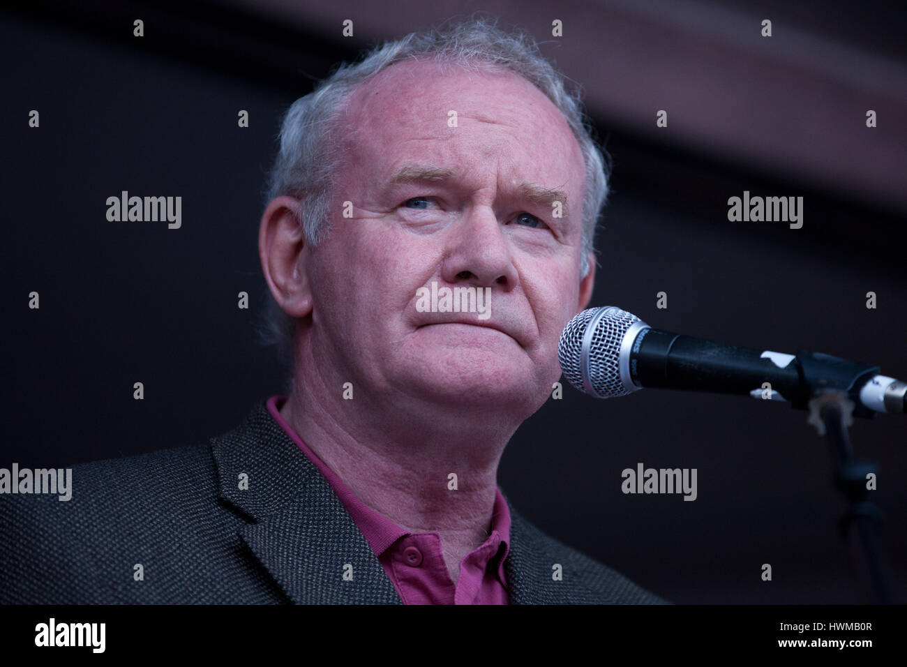 London, UK. 20th June, 2015. Martin McGuinness addresses the People's Assembly's 'End Austerity Now' - Stock Image