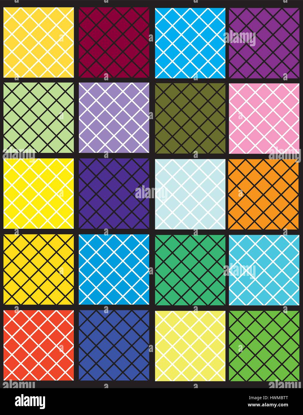 a set of colorful squares diamond shape - Stock Vector