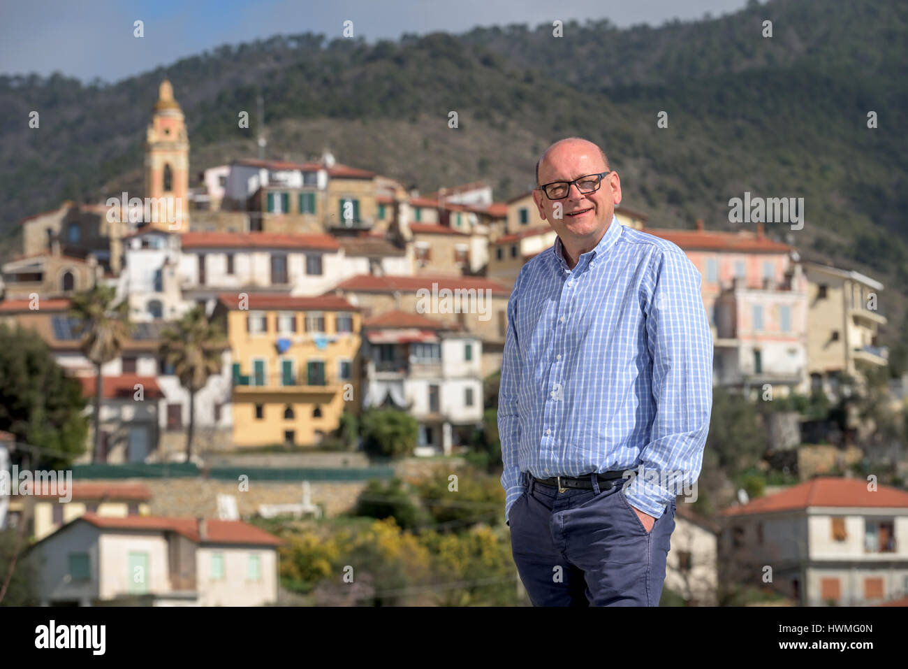 Mark Dezzani, a Radio Caroline DJ from Crawley, West Sussex, who is campaigning to become Prince of the Principality - Stock Image