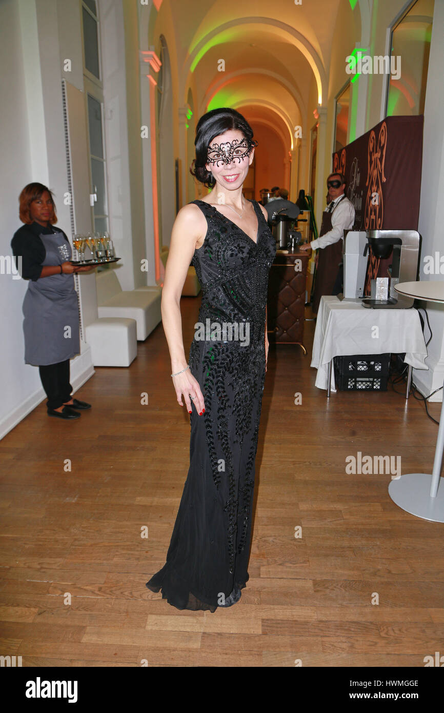 """Guests attending the annual Bal Masque"""" Charity Event at """"Museum fuer Kunst und Gewerbe"""" in Hamburg  Featuring: Stock Photo"""