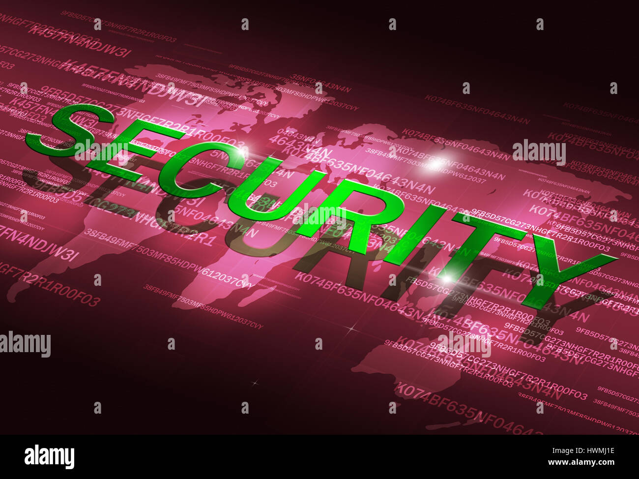 abstract digital coding internet technology security blue background - Stock Image