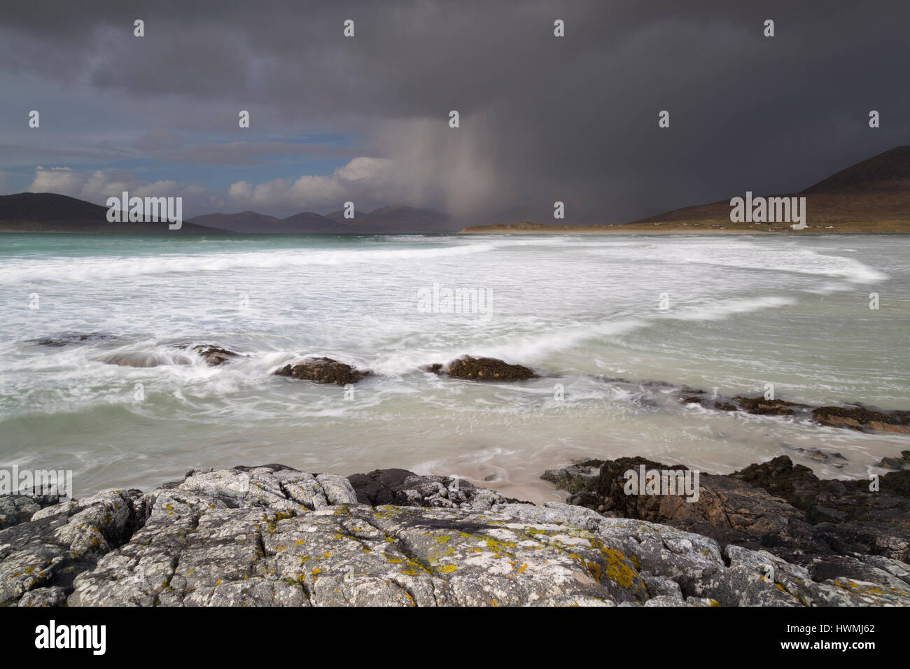 Coast at Seilebost, Isle of Harris - Stock Image
